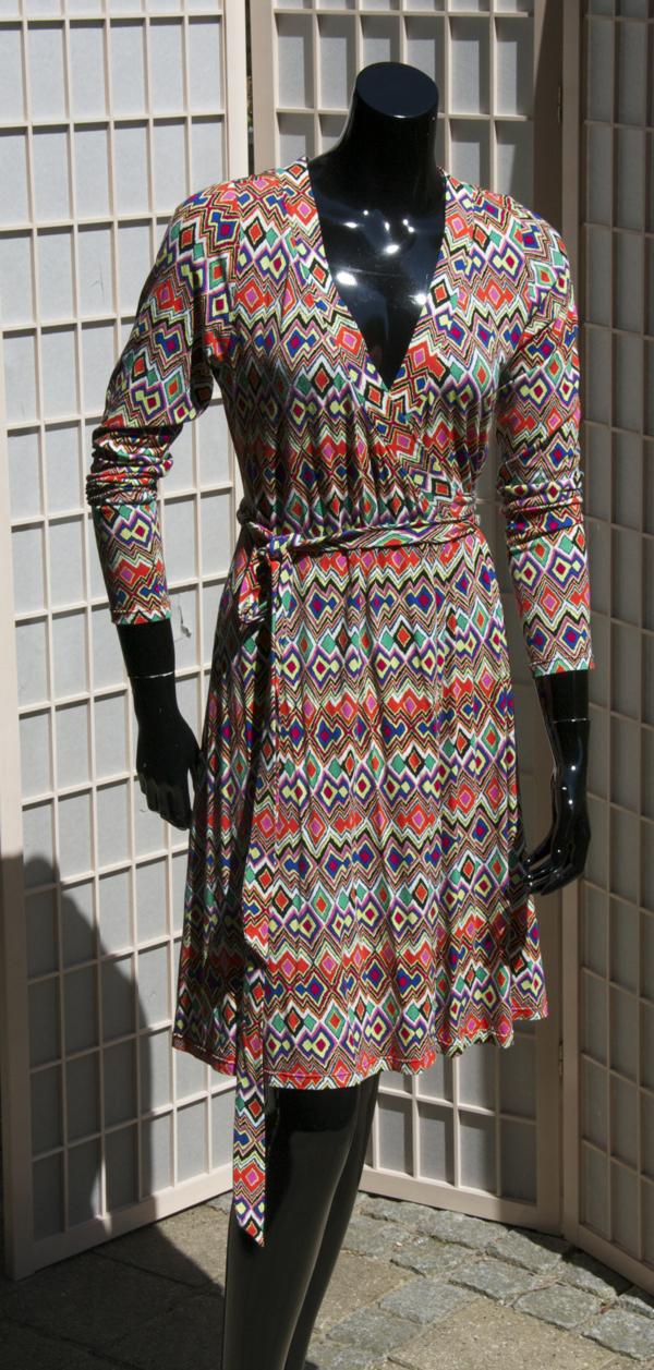 Slå-om kjole a la Missoni